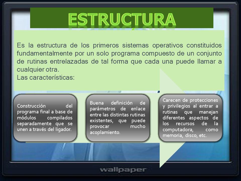 Estructura monolítica