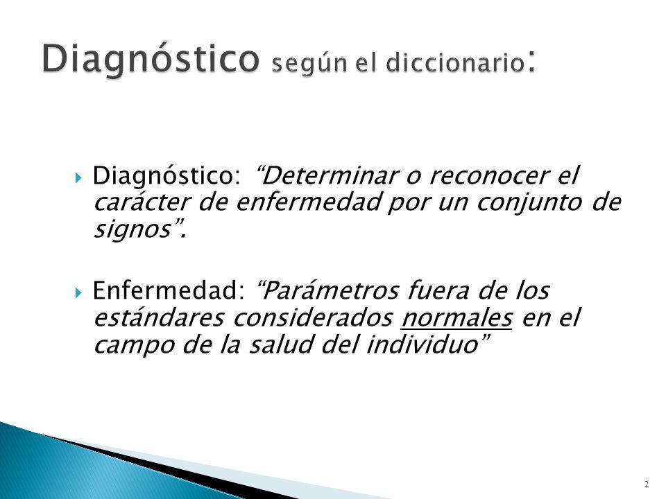 Diagnóstico según el diccionario: