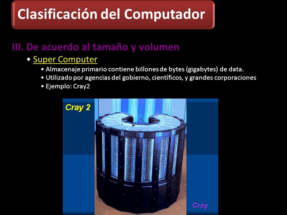 Clasificación del Computador
