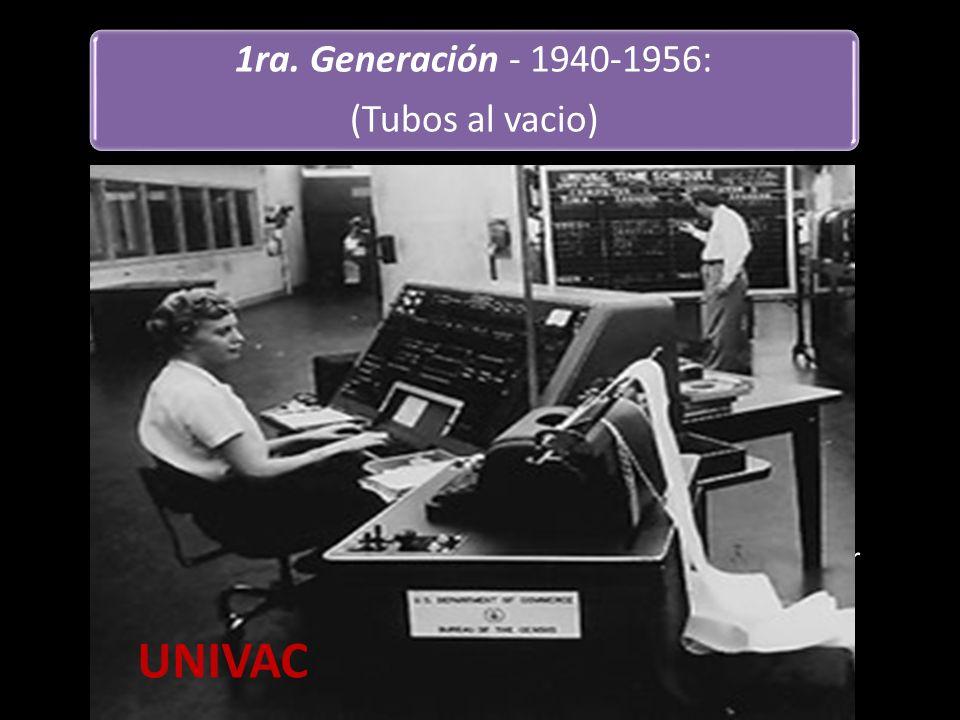 UNIVAC 1ra. Generación - 1940-1956: (Tubos al vacio)