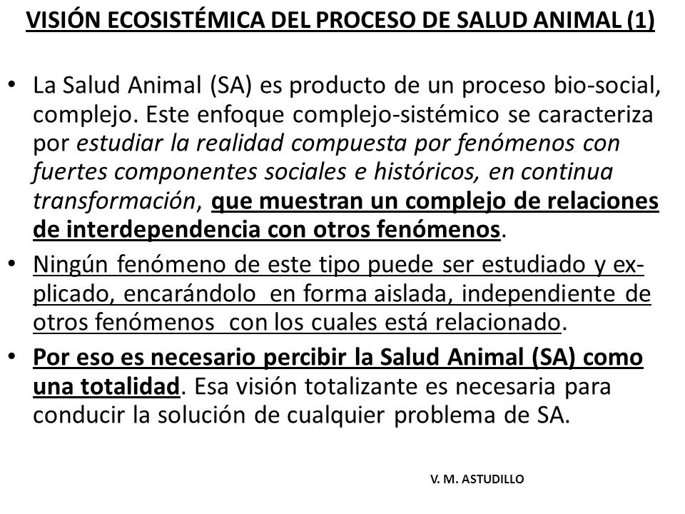 VISIÓN ECOSISTÉMICA DEL PROCESO DE SALUD ANIMAL (1)