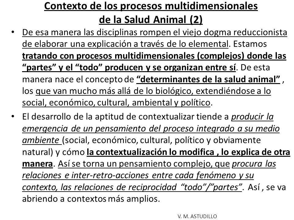 Contexto de los procesos multidimensionales de la Salud Animal (2)