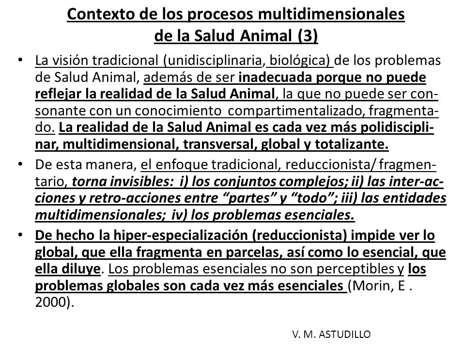 Contexto de los procesos multidimensionales de la Salud Animal (3)