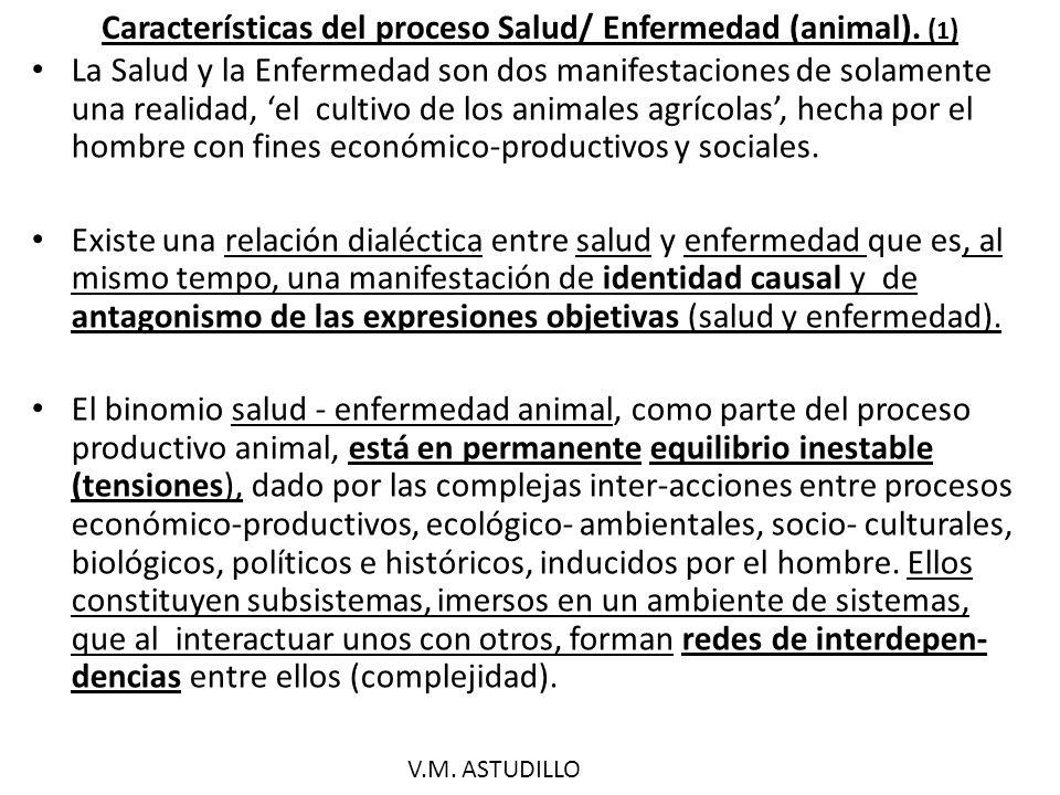 Características del proceso Salud/ Enfermedad (animal). (1)