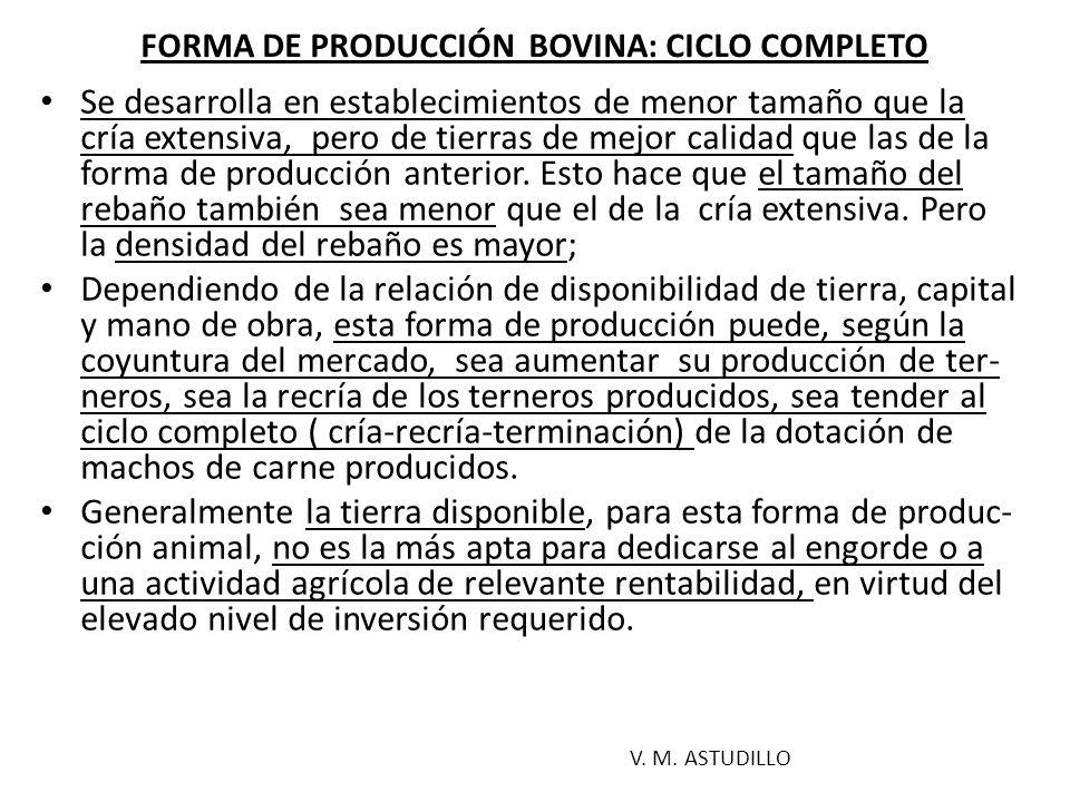 FORMA DE PRODUCCIÓN BOVINA: CICLO COMPLETO