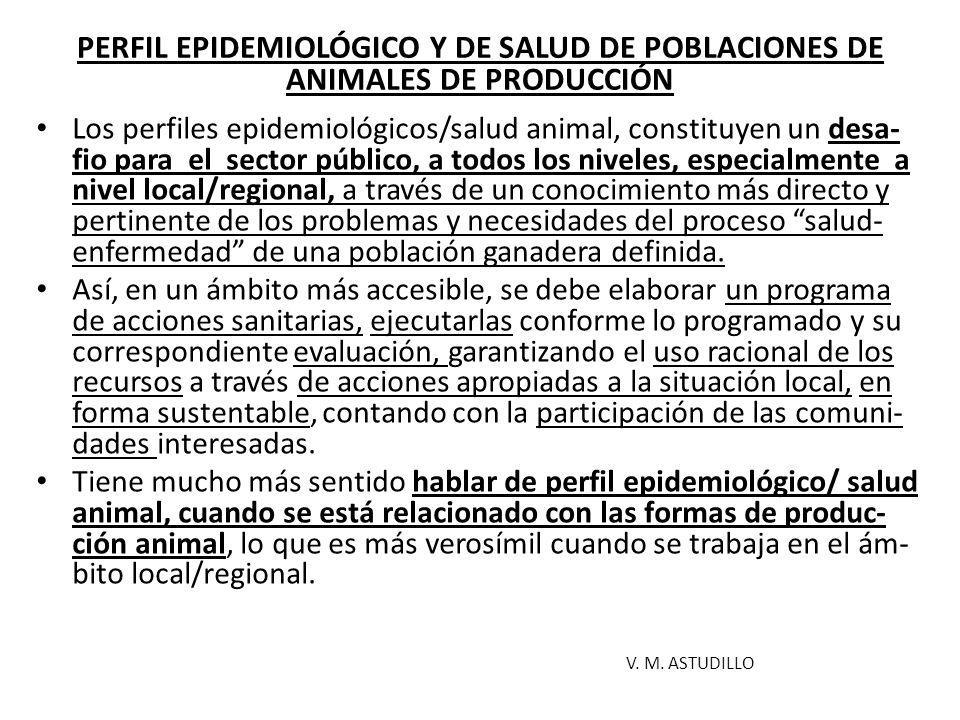 PERFIL EPIDEMIOLÓGICO Y DE SALUD DE POBLACIONES DE ANIMALES DE PRODUCCIÓN