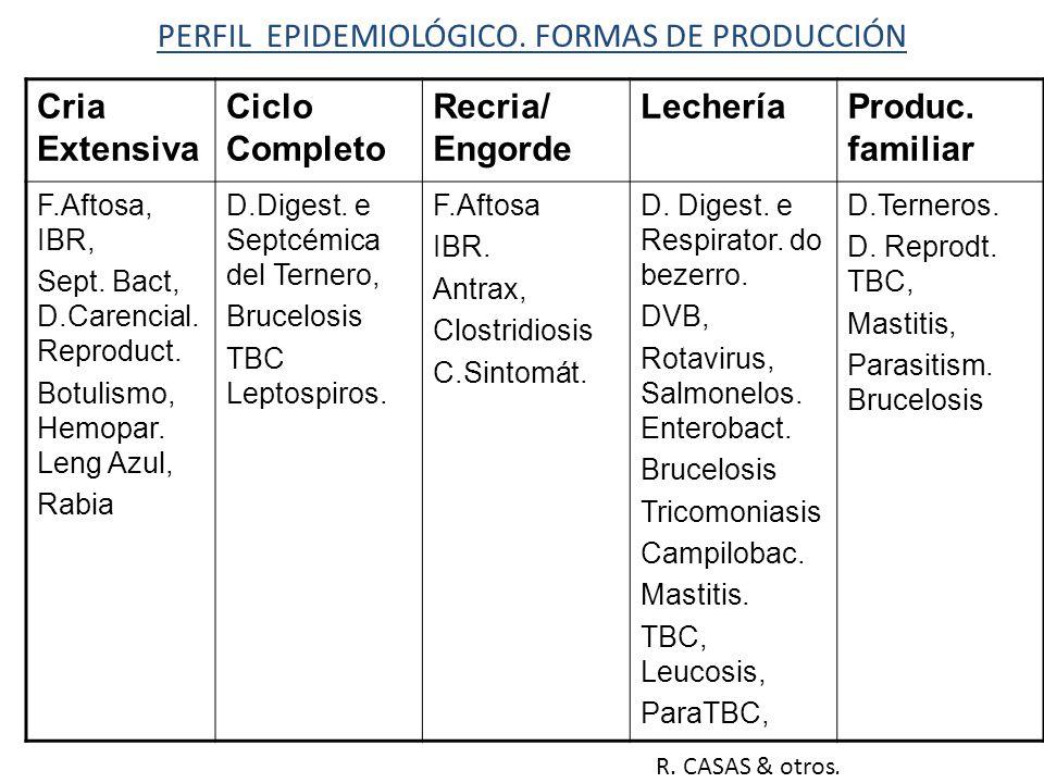 PERFIL EPIDEMIOLÓGICO. FORMAS DE PRODUCCIÓN