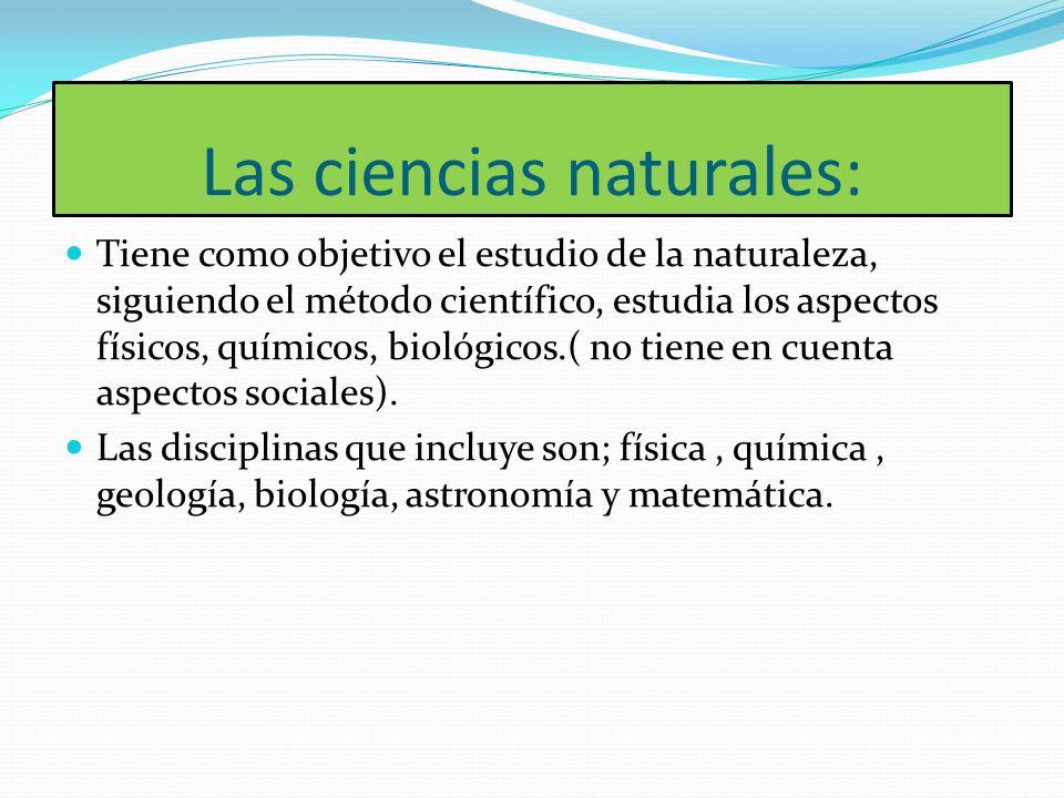 Las ciencias naturales: