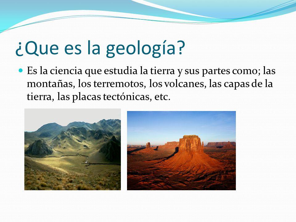 ¿Que es la geología