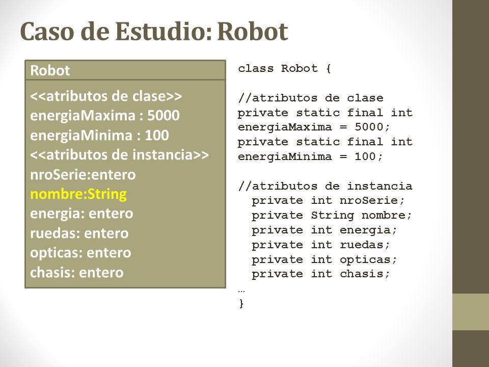 Caso de Estudio: Robot Robot <<atributos de clase>>