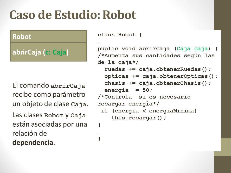 Caso de Estudio: Robot Robot abrirCaja (c: Caja)