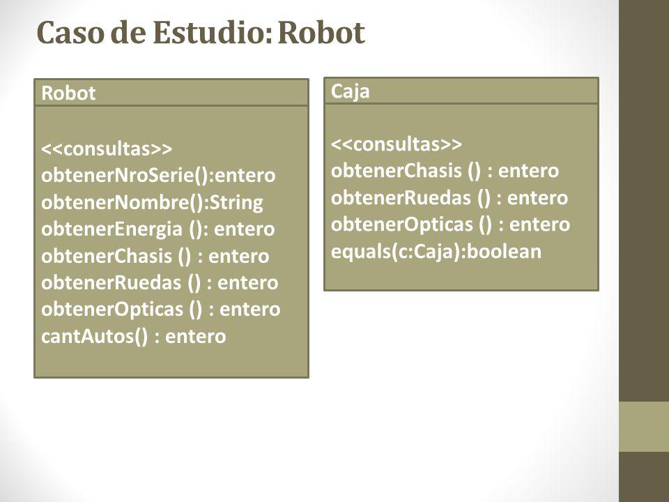 Caso de Estudio: Robot Robot Caja <<consultas>>