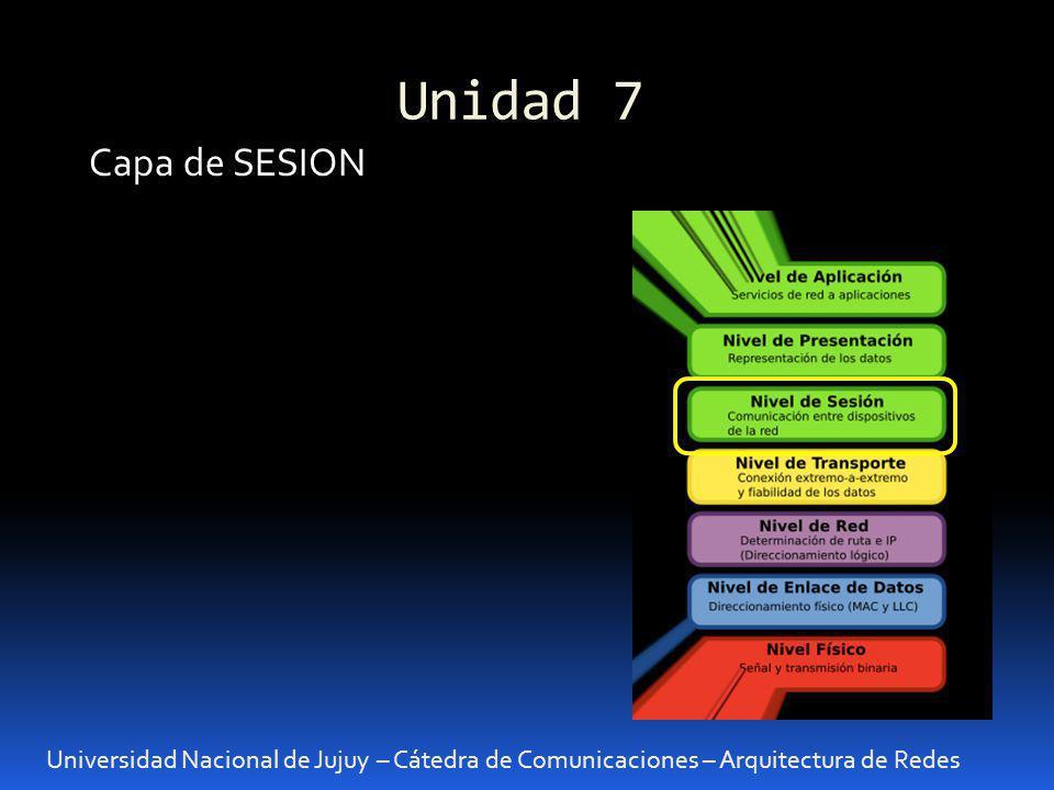 Unidad 7 Capa de SESION.