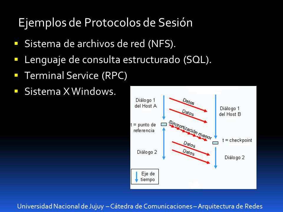 Ejemplos de Protocolos de Sesión