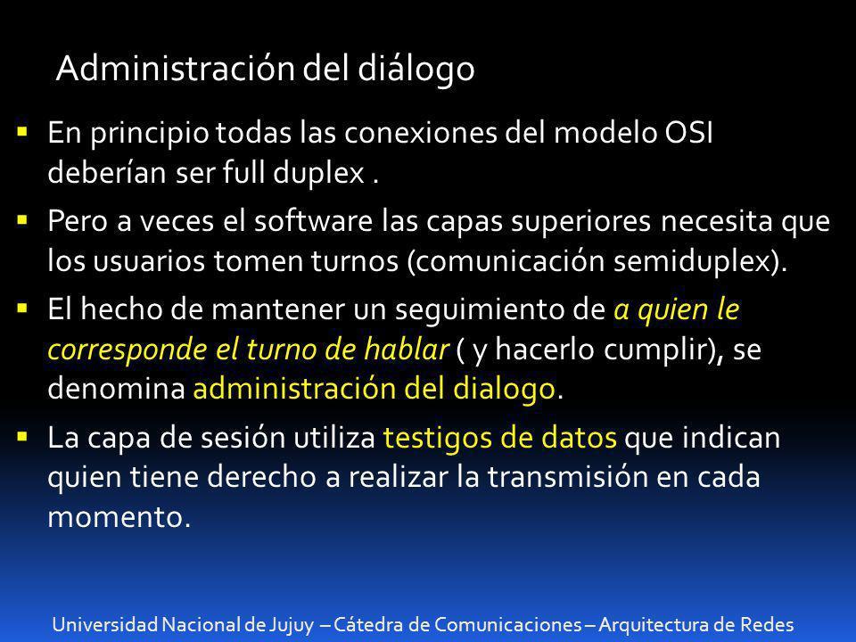 Administración del diálogo