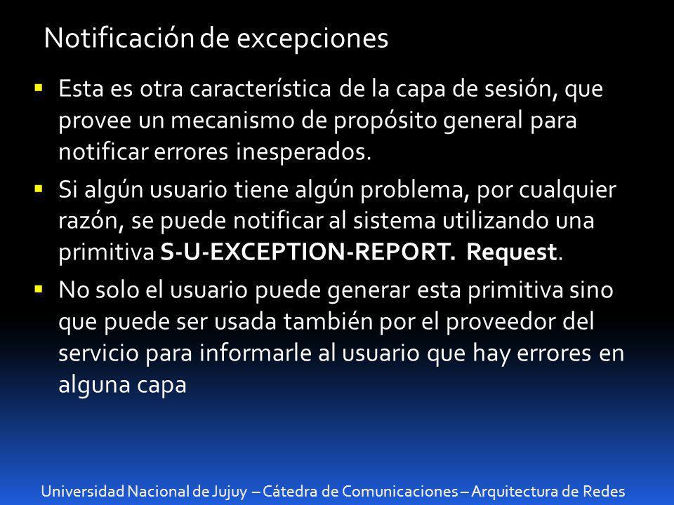 Notificación de excepciones
