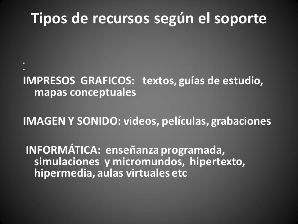 Tipos de recursos según el soporte