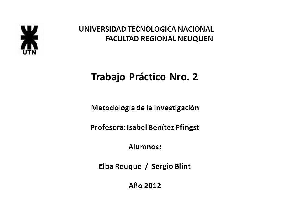 Trabajo Práctico Nro. 2 UNIVERSIDAD TECNOLOGICA NACIONAL