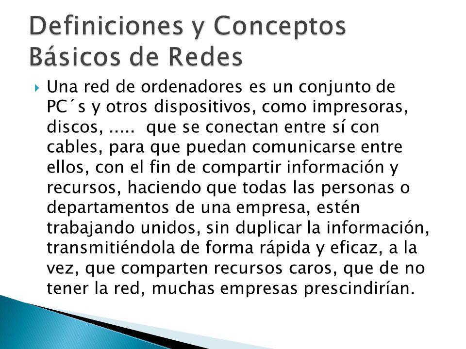 Definiciones y Conceptos Básicos de Redes