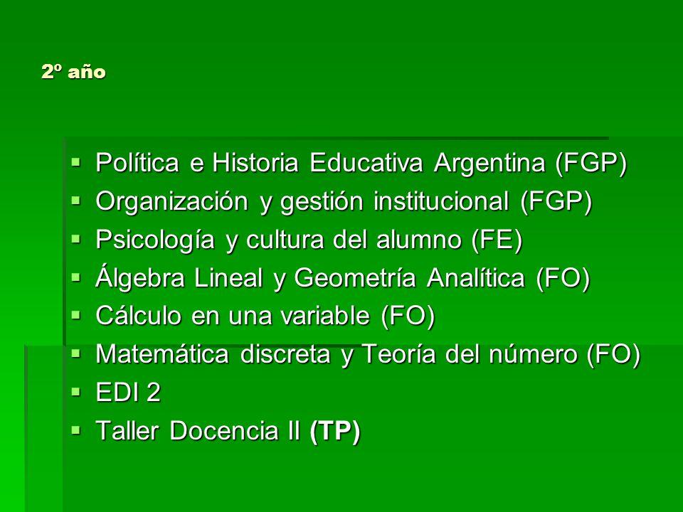 Política e Historia Educativa Argentina (FGP)