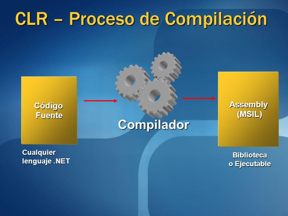 CLR – Proceso de Compilación