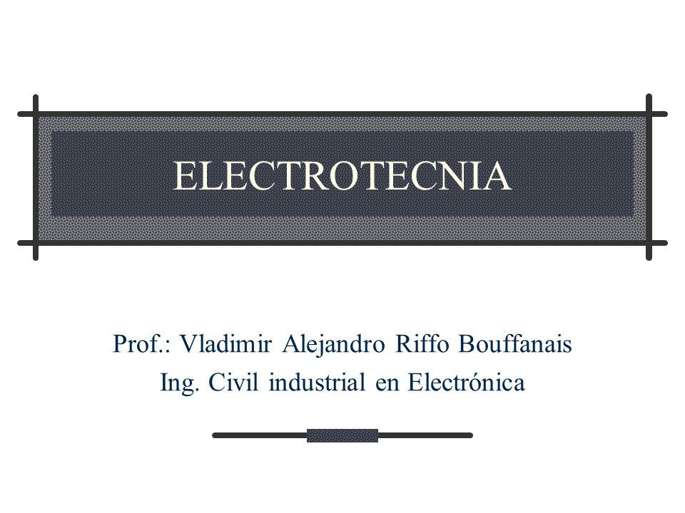 ELECTROTECNIA Prof.: Vladimir Alejandro Riffo Bouffanais