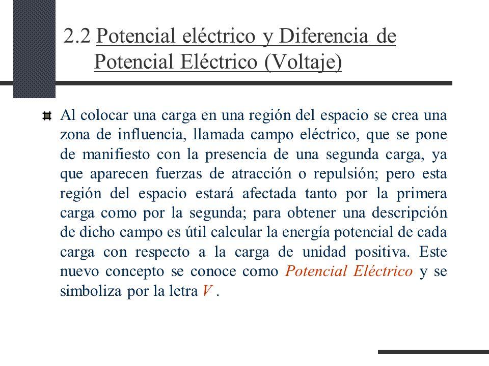 2.2 Potencial eléctrico y Diferencia de Potencial Eléctrico (Voltaje)