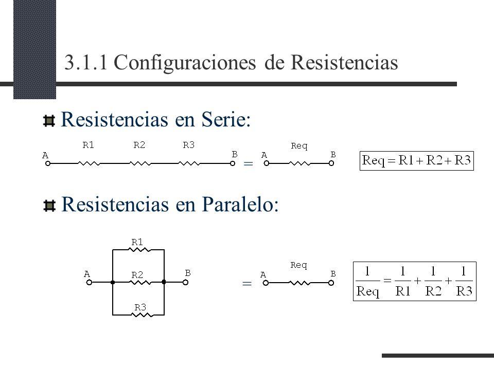 3.1.1 Configuraciones de Resistencias