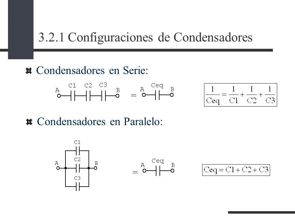 3.2.1 Configuraciones de Condensadores