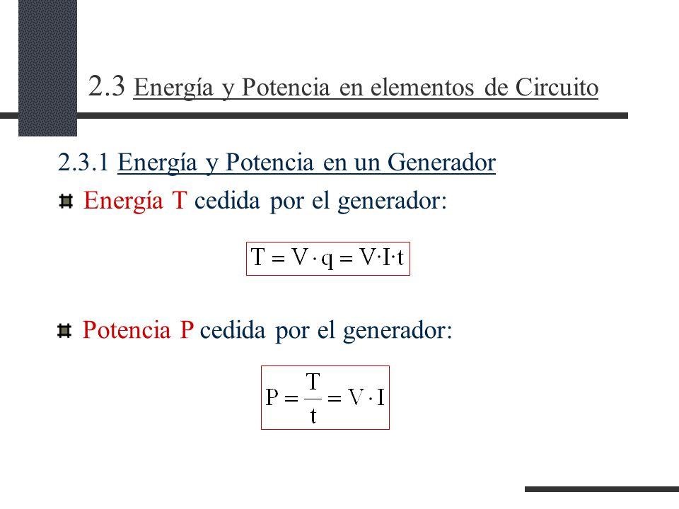 2.3 Energía y Potencia en elementos de Circuito