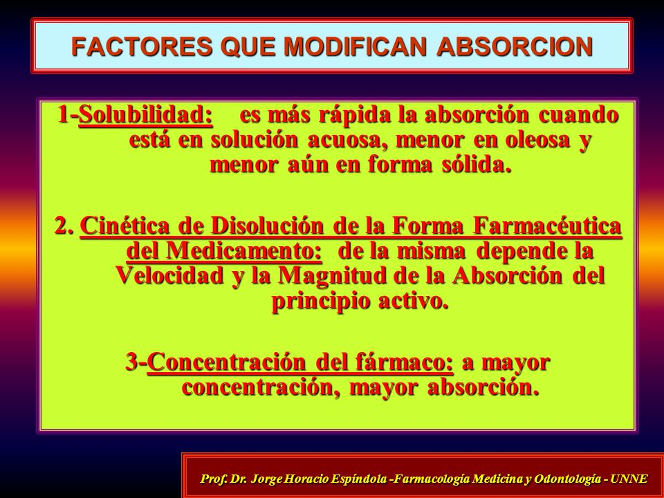 FACTORES QUE MODIFICAN ABSORCION