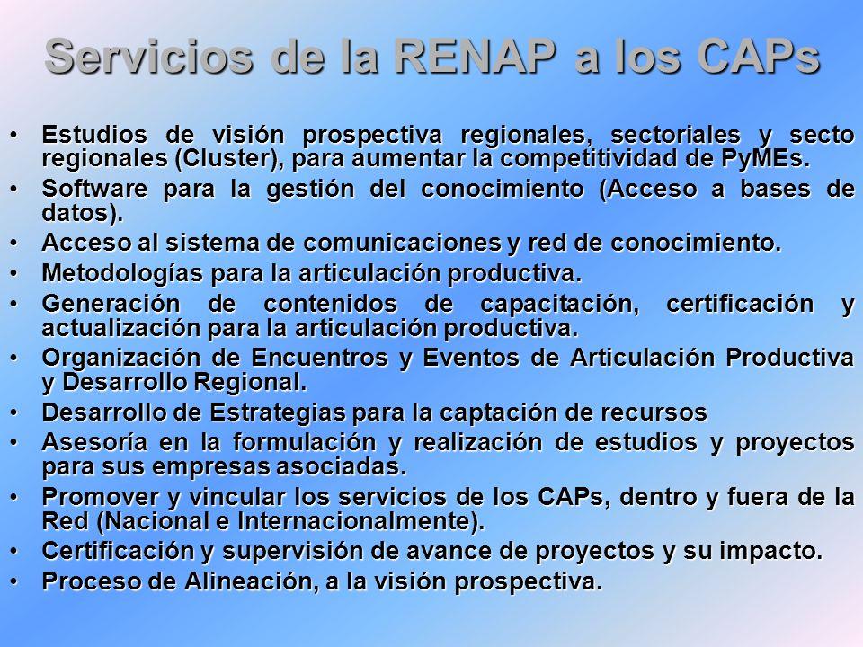 Servicios de la RENAP a los CAPs