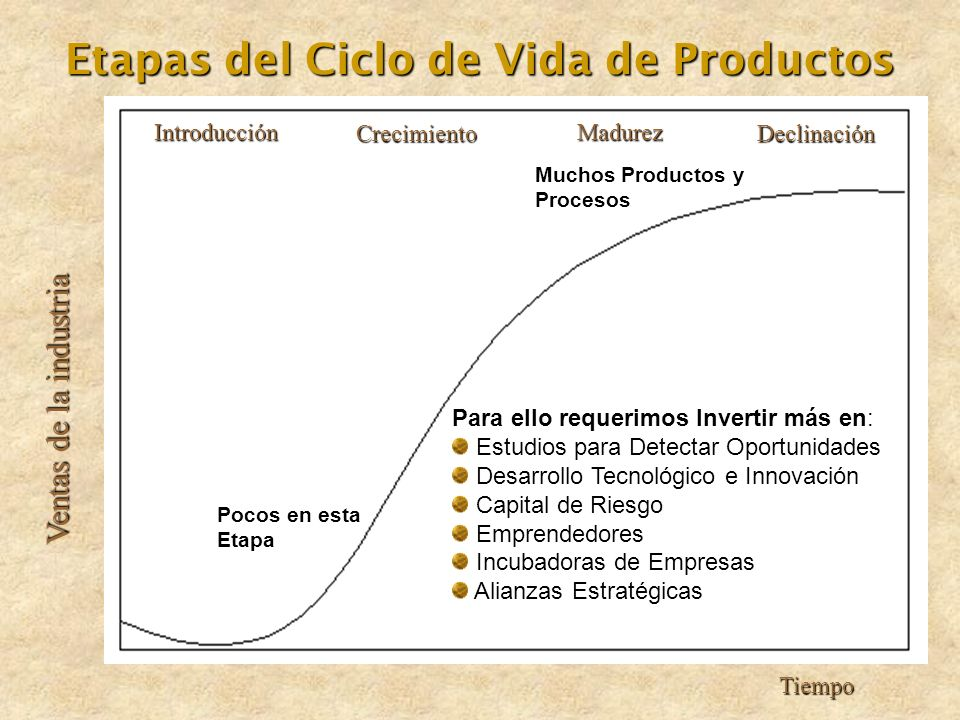 Etapas del Ciclo de Vida de Productos