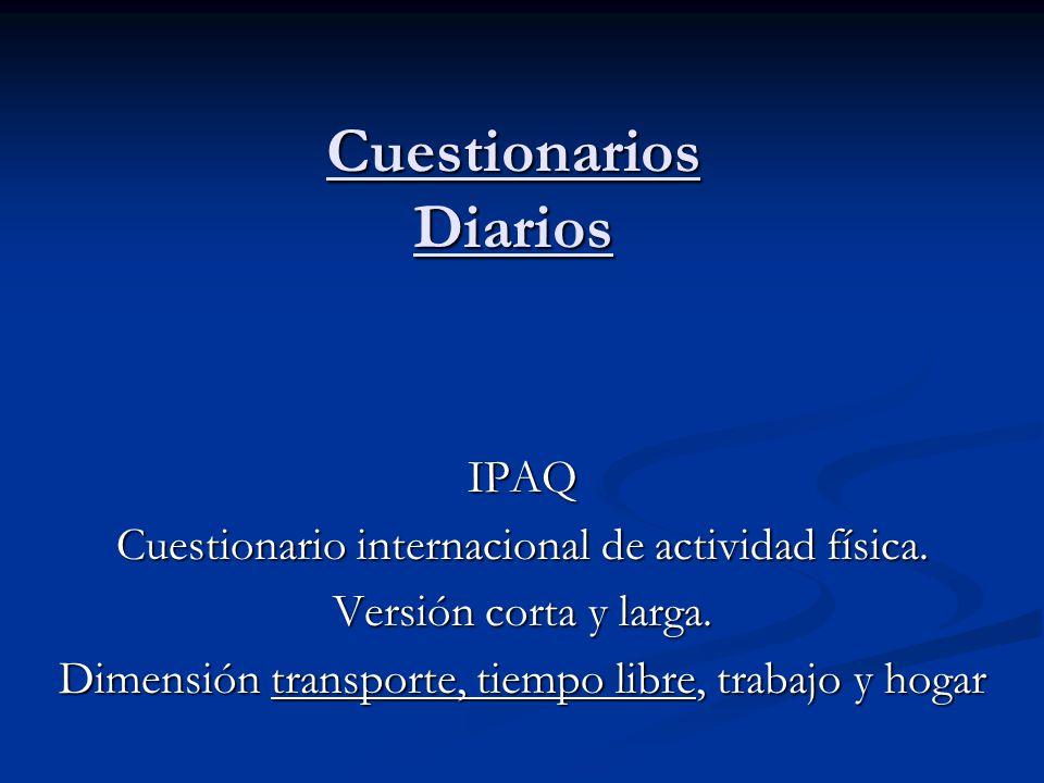 Cuestionarios Diarios