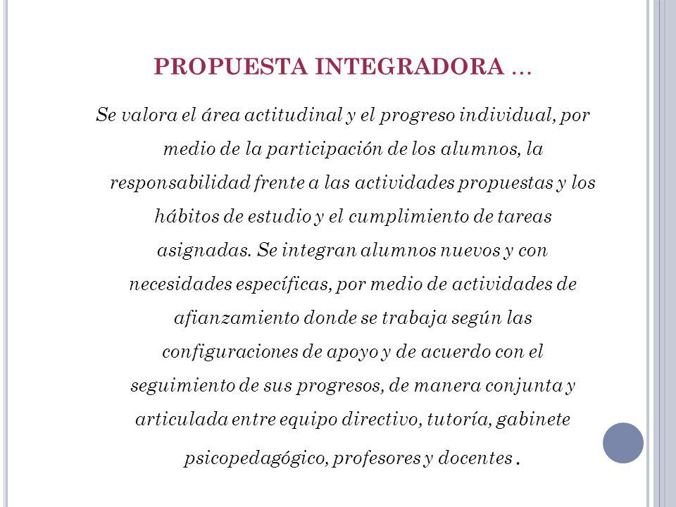 PROPUESTA INTEGRADORA …