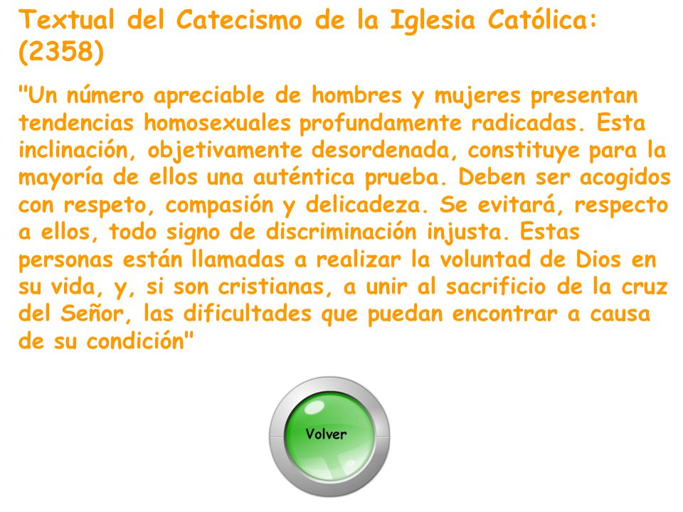 Textual del Catecismo de la Iglesia Católica: (2358)