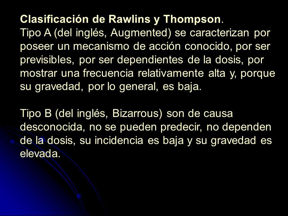 Clasificación de Rawlins y Thompson.