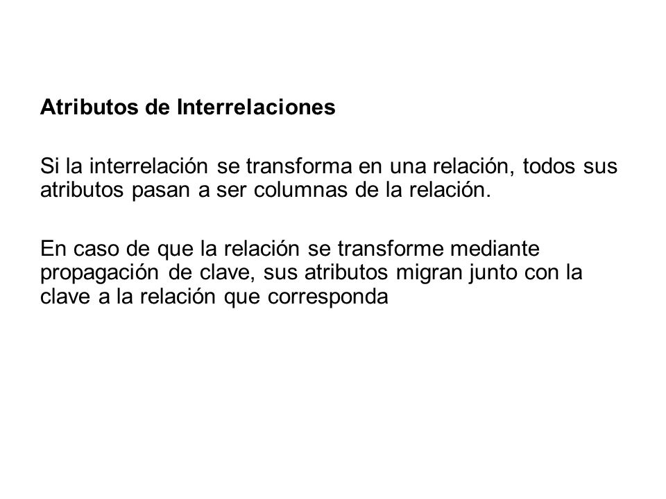 Atributos de Interrelaciones