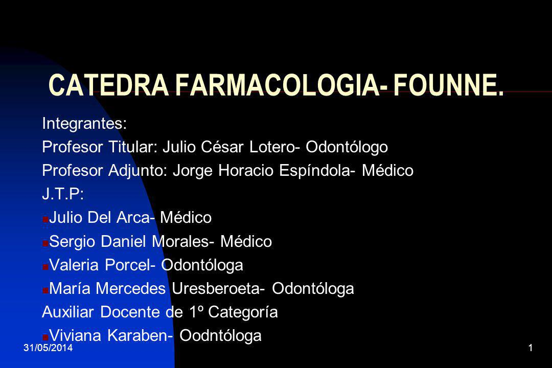 CATEDRA FARMACOLOGIA- FOUNNE.