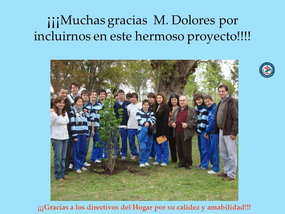 ¡¡¡Muchas gracias M. Dolores por incluirnos en este hermoso proyecto!!!!