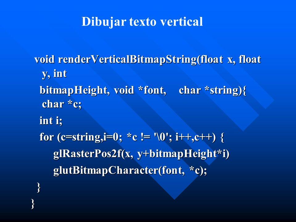 Dibujar texto vertical