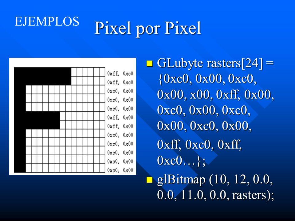 Pixel por Pixel EJEMPLOS