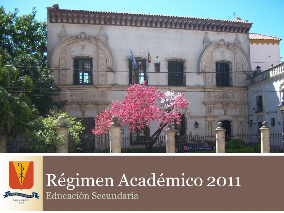 Régimen Académico 2011 Educación Secundaria