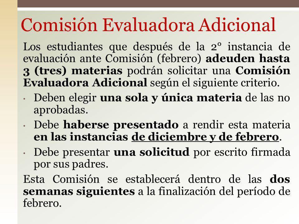 Comisión Evaluadora Adicional