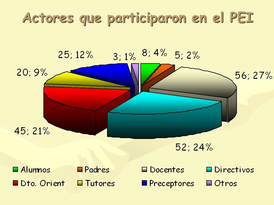 Actores que participaron en el PEI