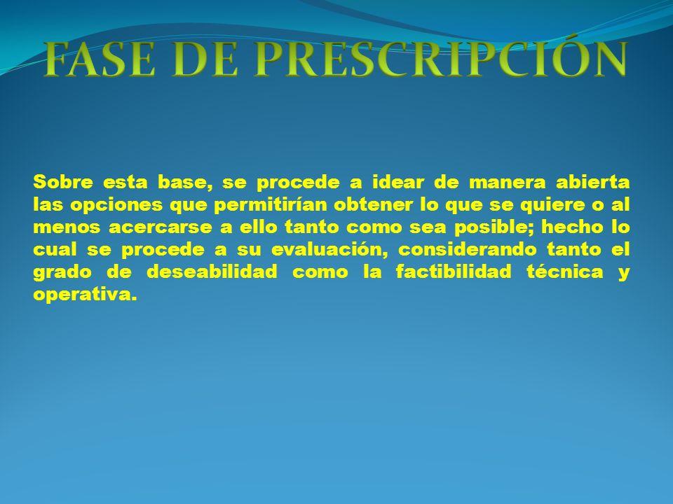 FASE DE PRESCRIPCIÓN