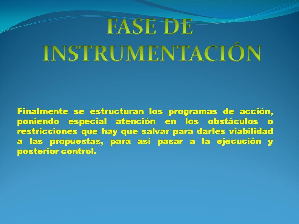 FASE DE INSTRUMENTACIÓN