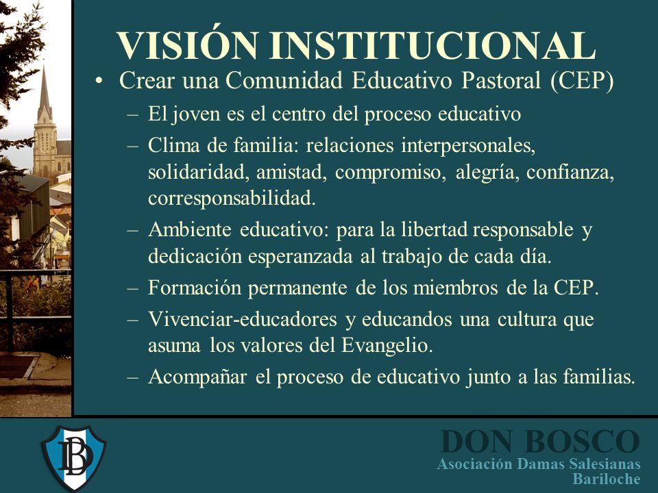 VISIÓN INSTITUCIONAL Crear una Comunidad Educativo Pastoral (CEP)