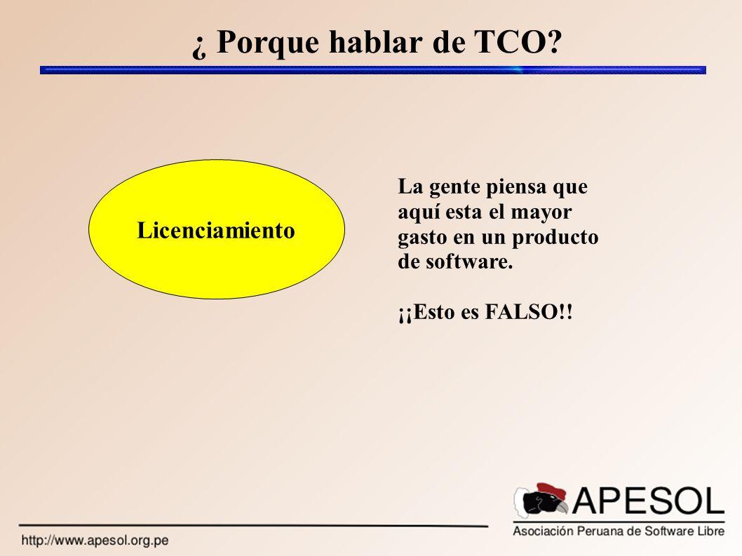 ¿ Porque hablar de TCO Licenciamiento