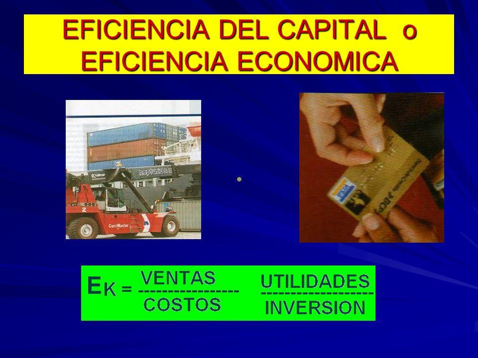 EFICIENCIA DEL CAPITAL o EFICIENCIA ECONOMICA